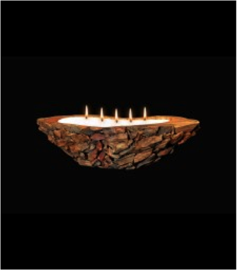 Canoe Carved Teak Wood Candle