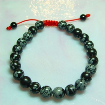 Snowflake Obsidian (Red Cord)