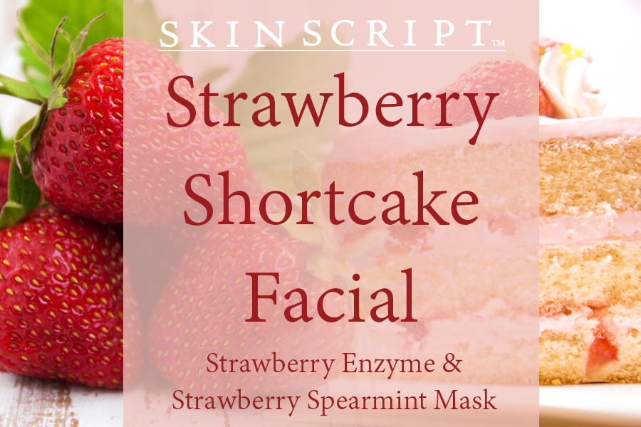 strawberry shortcake facial, skin script, holistic fusion, spa, englishtown, nj, natural skin care, massage