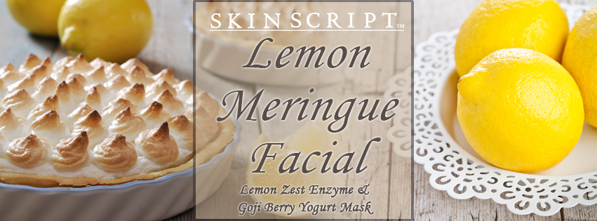 Lemon meringue facial, skin script, holistic fusion, spa, englishtown, nj, natural skin care
